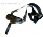 Кобура  для пистолета ПМ на плечо из натуральной кожи /цвет черный/