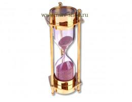 Песочные часы (1 мин 45 сек) с 2-мя компасами (латунь) размер  14*5,5 см (пр-во Индия)